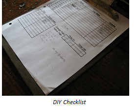 DIY checklists are often poorly designed.