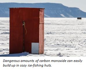 fishing hut with caption
