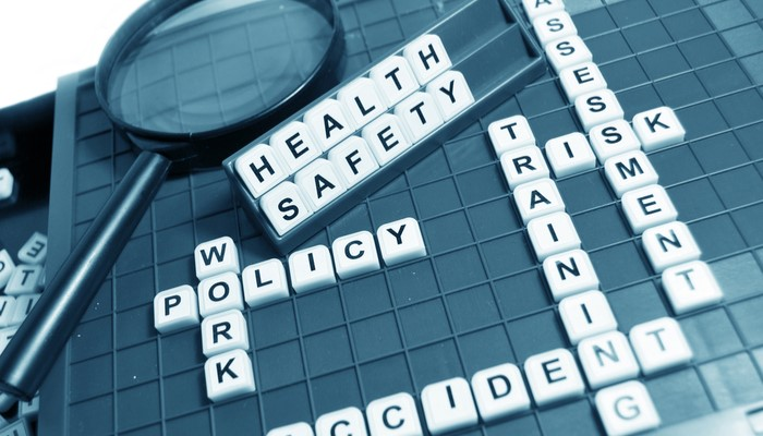 health and safety on scrabble board